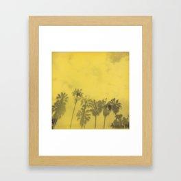 Yellow Palms Framed Art Print
