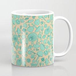 Fungi V2 Vintage Mushroom Pattern Coffee Mug
