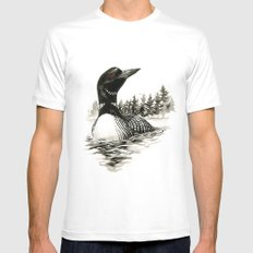 North Shore Loon Mens Fitted Tee White MEDIUM