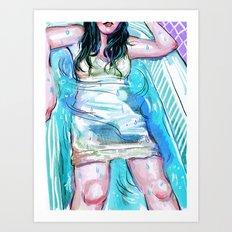 Summer Bath Art Print