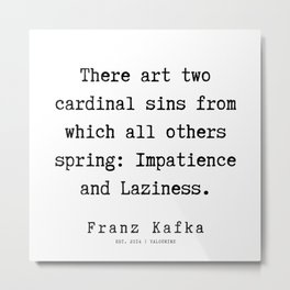 65   | Franz Kafka Quotes | 190910 Metal Print