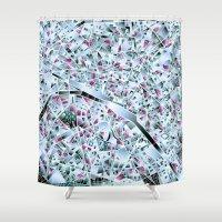paris map Shower Curtains featuring Paris map by Bekim ART
