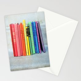 Rainbow Vintage Books Stationery Cards