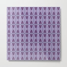 h - pattern simply Metal Print