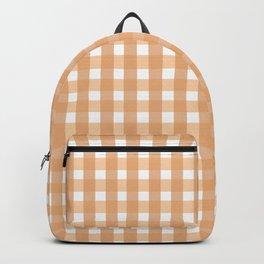 Gingham: Peach Backpack