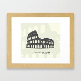 illustration of Roman Colosseum isolated on white background Framed Art Print
