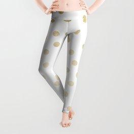 Stylish Gold Polka Dots Leggings