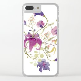Floral tenderness Clear iPhone Case