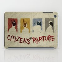 bioshock iPad Cases featuring Bioshock - Citizens of Rapture by Art of Peach