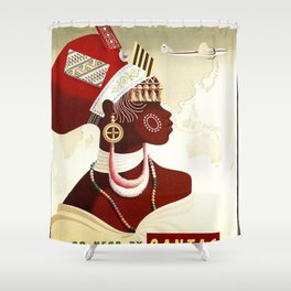 Vintage poster - South Africa Shower Curtain