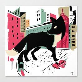 City Fox Canvas Print
