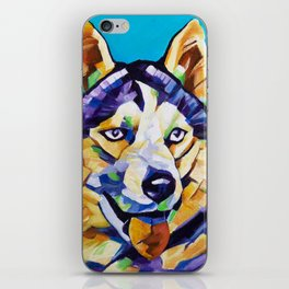 Pop Art Husky iPhone Skin