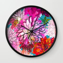Garden of Dahlias Wall Clock