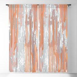Abstract ink. Gray. metallic. orange. abstract. .minimalist. line. minimalism. lines. Blackout Curtain