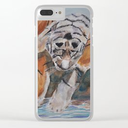 Triple Trouble Clear iPhone Case