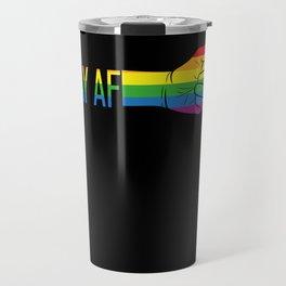 Gay AF Travel Mug