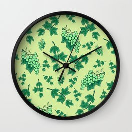 Seamless background from bunches of grapes Wall Clock