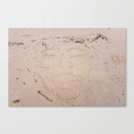 Sand Art Face Canvas Print