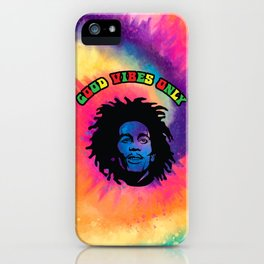 Good Vibes only, Marley vibes. iPhone Case