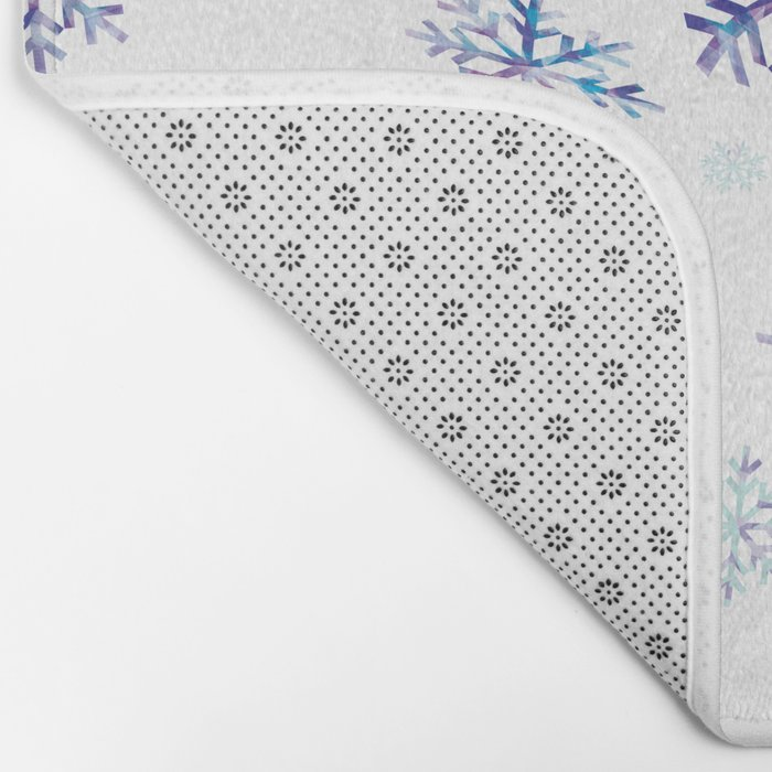 Snowflakes falling Bath Mat