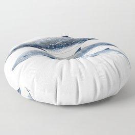 Blainville´s beaked whale Floor Pillow