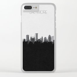 City Skylines: Baltimore (Alternative) Clear iPhone Case