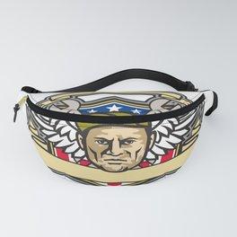 American Crew Chief Shield Mascot Fanny Pack