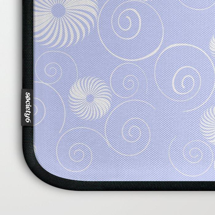 White Spirals Laptop Sleeve