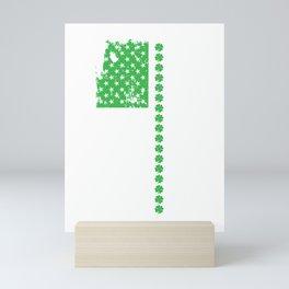 St. Patrick's Day Irish American Flag Mini Art Print
