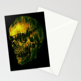 Melting Skull Stationery Cards
