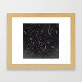 Gray Black Marble #1 #decor #art #society6 Framed Art Print