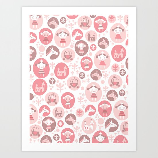 Happy Princess Art Print
