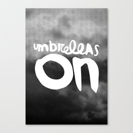Umbrellas on Canvas Print