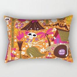Tiki Freaks do the Hulaween Rectangular Pillow