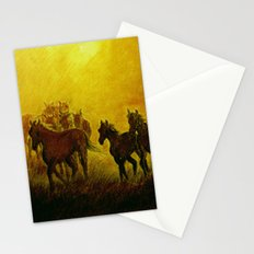 Horses at sunset Stationery Cards