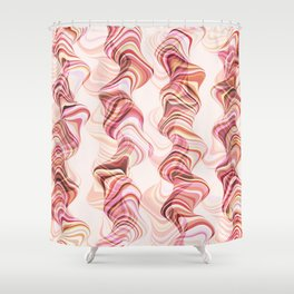 Abstract smoke tunnels, pink curvy shapes, texture design, crazy smoky print Shower Curtain