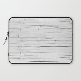 White Wooden Planks Wall Laptop Sleeve