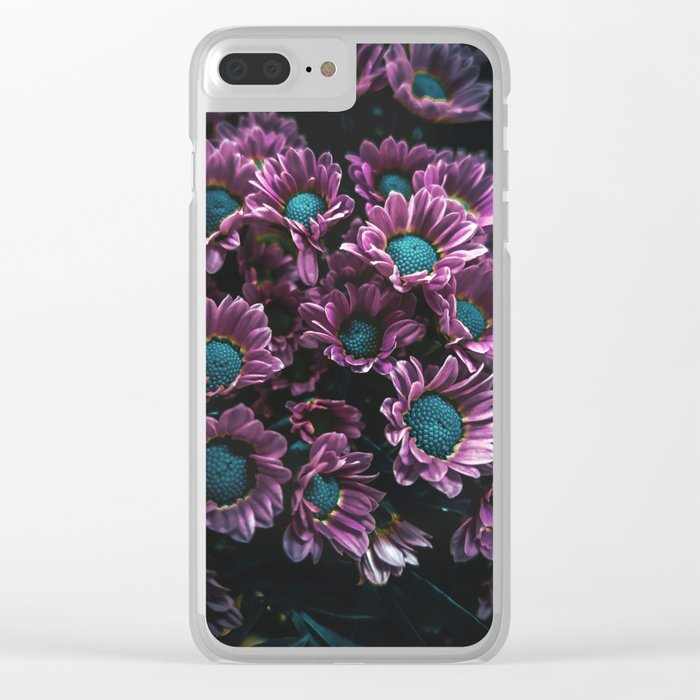 Shadows & Colors: Purple Clear iPhone Case