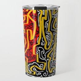 Laberinto red black Travel Mug