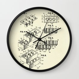 Lego Toy Building Brick-1961 Wall Clock