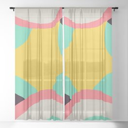 Abstract Shape #1 Sheer Curtain