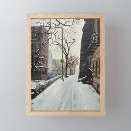 Snow Equinox print of an original oil painting Framed Mini Art Print