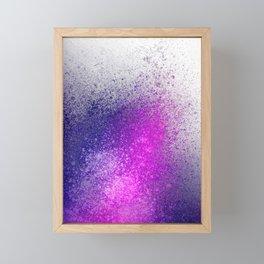 Hot Pink and Purple Paint Splatter Framed Mini Art Print