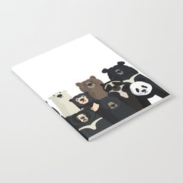 Bear family portrait Notebook