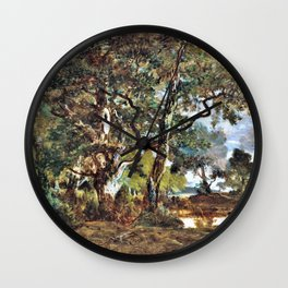 Forest Of Fontainebleau - Theodore Rousseau Wall Clock