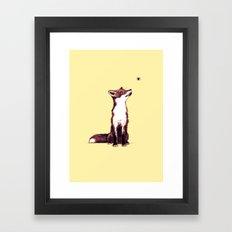 Brown Fox Looks at Thing Framed Art Print