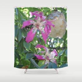 Silk Floss Tree Blossom & Fluff Shower Curtain