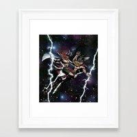vikings Framed Art Prints featuring Space Vikings by Go_Media