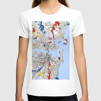 sydney T-shirts featuring Sydney mondrian by Mondrian Maps