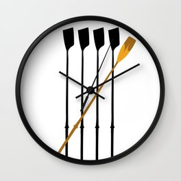 Rowing Oars 4 Wall Clock